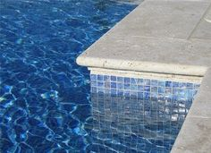 Tumbled Classic Travertine Turkish Pool Coping, Ivory Cream Beige Travertine Pool Coping - facing tiles - Stonemarket.biz