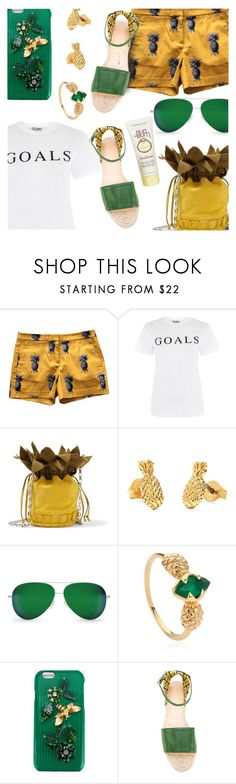 """""""Pineapple"""" by stacey-lynne ❤ liked on Polyvore featuring Ann Taylor, Love, Tomasini, Bing Bang, Victoria Beckham, Lee Renee, Dolce&Gabbana, Charlotte Olympia and Sun Bum"""