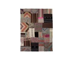 Alfombra de patchwork en lana 100% Vintage – 120x180   Westwing Home & Living
