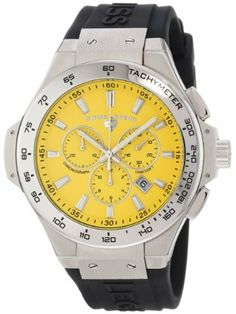 Swiss Legend Men's 40051-07-R Maverick Chronograph Yellow Dial Black Silicone Watch Swiss Legend. $69.99. Yellow dial with silver tone hands and hour markers; luminous; tachymeter scale on stainless steel bezel; screw-down crown. Swiss quartz movement. Chronograph functions with 60 second, 30 minute and 12 hour subdials; date function. Sapphitek crystal; stainless steel case; black silicone strap with logo. Water-resistant to 100 M (330 feet). Save 92%!