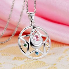 Sailor Moon Crystal Star 925 Sterling Silver Necklace - One Cool Gift - 2 Sailor Moon Crystal, Sailor Moon Jewelry, Sailor Moon Wedding, Sailor Moon Merchandise, Body Jewelry Shop, Kawaii Accessories, Cute Jewelry, Cool Gifts, Sterling Silver Necklaces