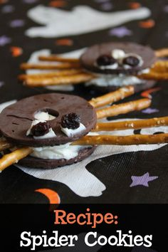 Spider Cookies - A fun fall recipe that kids can make!