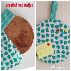 moederdag idee- can't read this but looks like you cover a cork disc with material to make a bulletin board Diy Arts And Crafts, Fun Crafts, Diy For Kids, Crafts For Kids, Colegio Ideas, Sewing Projects, Craft Projects, Sewing School, Making Ideas