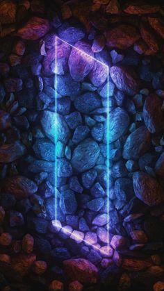 Stone Neon Light IPhone Wallpaper - IPhone Wallpapers