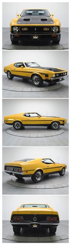 1971 Ford Mustang Boss 351, of all the Stang's, this body style speaks to me softly in an erotic way, just say'n.. r.m.