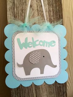 Welcome sign: -Sign measures about 10 inches square. -Made of high quality cardstock. -Can be customized in your colors! *See shop announcement on main page for current shipping times.