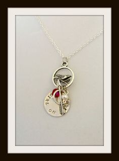 Hunger Games - Girl On Fire hand stamped necklace!