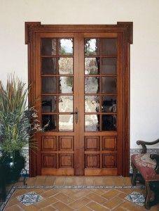 Puertas rustica con vidrio