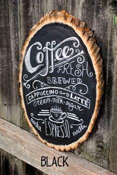 Rustic Chalkboard for coffee bar sign