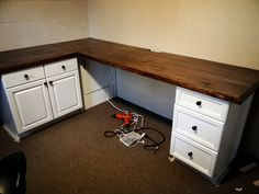 How To DIY: Built-In Desk II:   Instructions