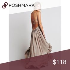 [ISO] • [please share] ISO = in search of This dress is an item I am looking for; it is not for sale. Please do not purchase.   I'm looking to buy this Extratropical Dress in taupe (gray/brown) by Free People in an XS. If you're selling yours, please let me know! Or please share with your followers to help me find it. 💕 Free People Dresses Maxi