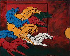 Horses - M.F Hussain