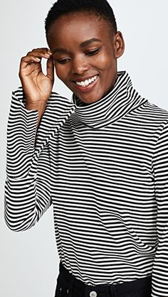 Seafarer Vague Turtleneck In Black/white Stripe Striped Turtleneck, Seafarer, Beach Wear, Black White Stripes, Personal Style, Men Casual, Turtle Neck, My Style, Long Sleeve