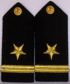 US Navy Naval USN Male Ensign Line Officer Shoulder Boards Bullion w/ Packaging