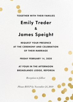 From: Emily and James Paperless Post, Rsvp, Reception, Marriage, Wedding, Valentines Day Weddings, Valentines Day Weddings, Receptions, Weddings