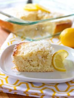 Lemony Coconut Snack Cake
