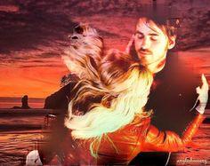 Colin O'Donoghue -Killian Jones - Captain Hook -Jennifer Morrison - Emma Swan on Once Upon A Time