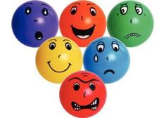 Children will have fun while learning about different emotions with this emotion balls set Squishy Circuits, Block Play, Magnetic Letters, Different Emotions, Art Diary, Art Storage, Simple Machines, Early Literacy, Painted Paper