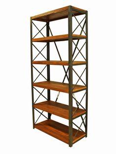 Cross Ahşap kitaplık | Ev dekorasyon | Ofis dekorasyon Bookcase | Loft Style | Wood and Metal | Wooden http://www.mozilya.com/urunlerimiz/cross-ahsap-kitaplik-ve-raf-unitesi/