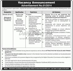 Jobs in Well Renowned Organization Karachi For details and how to apply: http://www.dailypaperpk.com/jobs/207203/jobs-well-renowed-organization-karachi
