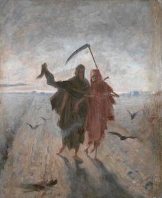 Jakub Schikaneder - The Last Journey (Poslední cesta) First half of the 1890s