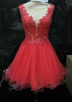 2014 Custom Made Sexy Lace Short Prom Dress by DreamBridalStudio, $129.99