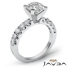 Natural Round Diamond Engagement GIA G VS2 14k Prong Set Ring White Gold 1 75 Ct | eBay