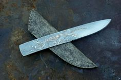 Etched knife.