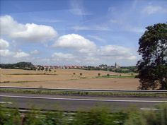 The beautiful French countryside, on the way from the ferry port at Calais to Paris