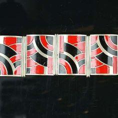 An art deco enamel bracelet ,