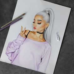 ariana grande let's take both of our souls and intertwine - - - This is my best drawing and i'm never going to top it so i hope you guys love it Tumblr Drawings, Girly Drawings, Horse Drawings, Ariana Grande Drawings, Ariana Grande Wallpaper, Fashion Sketches, Art Sketches, Cute Girl Drawing, Drawing Art