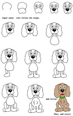How to draw a dog!