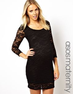Asos Lace Maternity Bodyforming dress