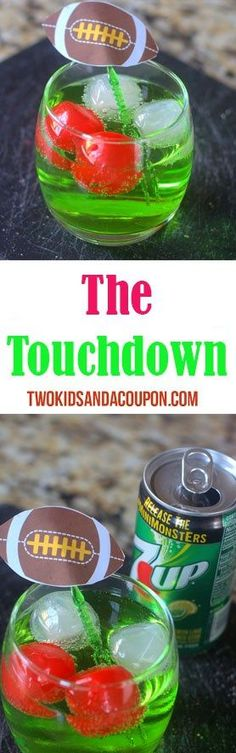 """Looking for the perfect game day cocktail to serve at your bowl game party? With only a couple tasty ingredients, the """"Touchdown"""" is easy and sure to be a hit no matter who you're cheering for."""