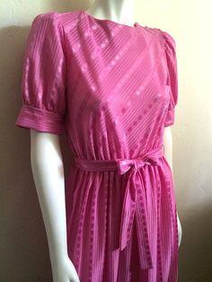 Vintage Apparel Ladies 80's Dress Pink Short by Freshandswanky, $23.00