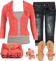 """Summer Coral"" by callico32 on Polyvore"