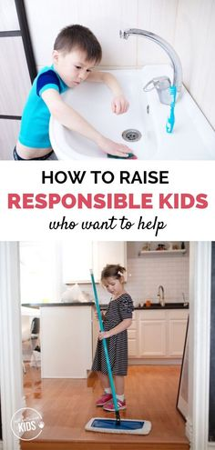 "What if instead of simply giving kids chores, parents could raise kids who naturally want to help their family? This excerpt from the ""Chores and Responsibilities"" section of the book ""Now Say This"" tells us how. Toddler Routine, Toddler Chores, Chores For Kids, Toddler Boys, Parenting Articles, Parenting Books, Gentle Parenting, Peaceful Parenting, Practical Parenting"