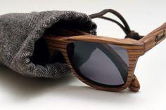 Wood shades. Urban outdoorsman accessory.