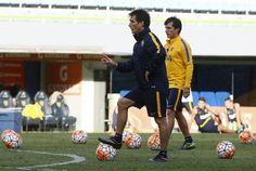 Guillermo y Gustavo en la primera practica como CT de Boca!