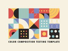 Color Composition Testing Temp[late designed by Justin Mezzell. Connect with them on Dribbble; the global community for designers and creative professionals. Graphic Design Projects, Geometric Graphic Design, Graphic Design Pattern, Color Studies, Digital Illustration, Palette, Creative, Graphic Designers, Posters