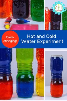 hot and cold water experiment Science Projects For Preschoolers, Easy Science Projects, Science Experiments For Preschoolers, Easy Science Experiments, Science Kits, Science For Kids, Fair Projects, Science Fair, Earth Science