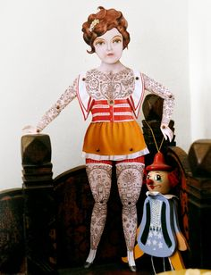 tattooed paper doll ; ) cute