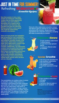 Refreshing Watermelon Smoothies (Infographic)