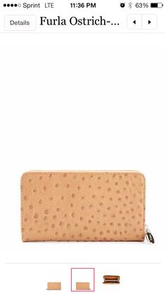 Furla- ostrich leather wallet