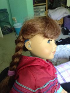 Cheap and easy HA's for American Girl dolls - just use wax ear plugs ($3) and clay ($5 max) clay is available in a wide range of colors so you can customize a dolls hearing aids to match her girl's