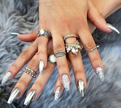 Stylish collection of the recent must have mirror nail designs that will demonstrate actual glamour and sparkle to your nails.