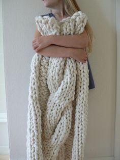 Head over Heels fat yarn blanket 130cm*170cm (51'' * 67'') extrafine merino
