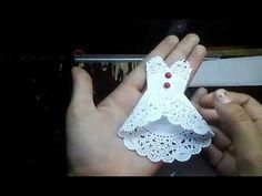 Art Dress Tutorial - Part 1 - Paper Mache Bodice Crochet Videos, Crochet Toys, Origami And Quilling, Diy And Crafts, Paper Crafts, Denim And Diamonds, Crochet Flower Tutorial, Dress Card, Fabric Journals