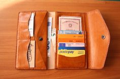 Diana leather wallet woman handmade in Italy by Meurras on Etsy