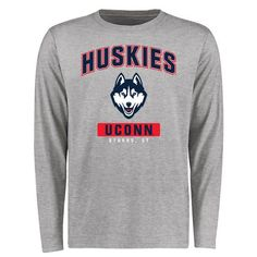 UConn Huskies Big & Tall Campus Icon Long Sleeve T-Shirt - Ash - $29.99